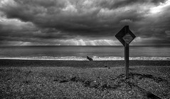 Bathing to the left (Through Bri`s Lens) Tags: sussex lancing worthing bathing beach signpost canon5dmk3 canon1635f4 brianspicer