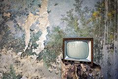 Natura morta (maxmene70) Tags: urbex decay abandoned light wallpaper canon television flowers exploration