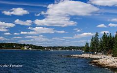 Maine Coastline (Al Fontaine) Tags: coast trees water maine coastline shoreline picturesque