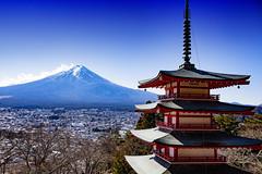 Mount Fuji & A Pagoda (El-Branden Brazil) Tags: japan japanese mountains mountfuji fujisan asia asian pagoda buddhism buddhist religions sacred