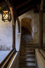 Old Staircase (noname_clark) Tags: vacation europe austria hohenwerfencastle castle stair wood lantern light werfen