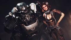 Iron Blood -  Jane's Workshop (Vinovat.T) Tags: fallout fallout4 portrait preset bra dirt jaeger mech tinker model redhead iron uniform mechanic hammer tape lens revealing