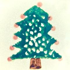tree with snow (muffett68 ☺ heidi ☺) Tags: hss christmas tree sponge picmonkey sliderssunday square bokeh