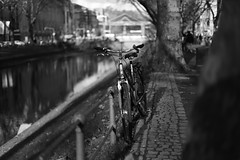 winter light 9@Kö-Graben, Düsseldorf (Amselchen) Tags: bike bicycle bnw blackandwhite light shadow bokeh blur dof depthoffield season winter street germany canon ef50mm f14 usm ef50mmf14usm canoneos6dmarkii