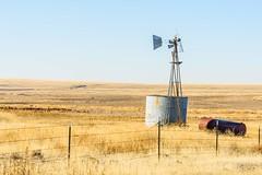 Obsolete (garshna) Tags: outdoors landscape windmill abandoned broken