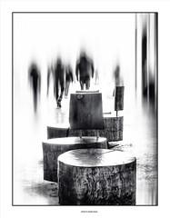 Sunday afternoon ... (michel di Méglio) Tags: marseille lafriche monochrom bw street art white highkey olympus blur shadow flou