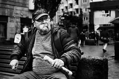 DSCF0287 (yann CM B) Tags: smoker oslo norway blackandwhite streetphotography candid fuji fixlens 35mm 50mm winter people man alone