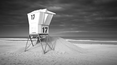 Mission Beach Lifeguarg Tower (William Dunigan) Tags: mission beach san diego lifeguard tower black white monochrome long exposure california southern ocean pacific