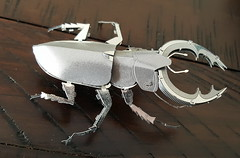 bug of the day (urtica) Tags: beetle insect stagbeetle coleoptera metal metalsculpture
