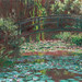 Monet Water Lilies and bridge painting
