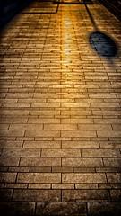 Follow the yellow brick road (waynedavey67) Tags: canon 6d 70200mmlf28 barcelona spain path road pattern abstract reflectiion
