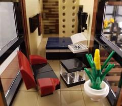 Scandinavian Sea House MOC. Master bedroom. (betweenbrickwalls) Tags: lego afol moc interiordecor interiordesign interiorphotography toys toyphotography bedroom furniture design