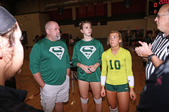 IMG_3159 (SJH Foto) Tags: girls high school volleyball bishop shanahan hempfield state pool play championships canon 1018 f4556 stm superwide lens pregame ceremonies ref referee captains coin toss coaches
