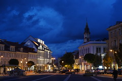 Vilnius: Town Hall Square (zug55) Tags: vilnius townhallsquare rotušėsaikštė piliesstreet piliesgatvė lithuania litauen vilna wilna wilno baltic baltics lietuva lietuvosrespublika unesco unescoworldheritagesite worldheritagesite worldheritage welterbe weltkulturerbe
