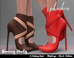 "Phedora. for Kinky Event  - ""Ginny"" heels ♥ (Celena Galli ~ phedora.) Tags: sl secondlife second life phedora 3d mesh shoes brand heels platforms shoewear womenswear pumps woman women sexy sassy stylish classy cute chic kinky kawaii fashion event monthly events original content 100mesh new release newrelease meshbody hud multihud maitreya lara belleza isis freya venus slink hourglass physique shopping shopaholic shappaholic straps ankle booties sportswear streetwear cuffs ankleboots urban funky heel strappy style strappyheels kinkyevent kinkyyy avatar female femaleavatar femaleavi footwear"