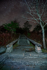 Stairway To Heaven (snapdragginphoto) Tags: wisemansview linvillegorge night sky stairway steps overlook northcarolina wilderness