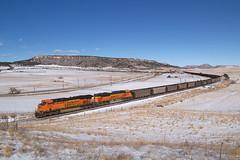 BNSF 7538 Spruce 25 Nov 18 (AK Ween) Tags: bnsf bnsf7538 ge generalelectric gevo es44dc spruce colorado thesag sprucemountain train railroad greenlandopenspace