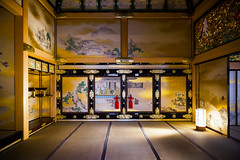 Incredible Nagoya Castle Honmaru Palace (DanÅke Carlsson) Tags: japan japanese nagoya castle honmaru palace room traditional tatami gold decorations sliding doors colors lamp light