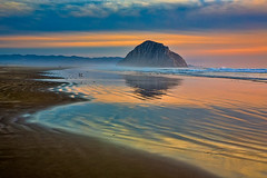 Peace (Mimi Ditchie) Tags: morrobay morrorock seascape clouds reflections light beach pacificocean sunset newyearseve newyearseve2018 llllll mimiditchie mimiditchiephotography getty gettyimages
