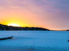 Cold Vinter Morning Light (fixaraffe) Tags: sun vinter sunrise ice cold snow