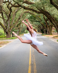 Jump for Joy (APGougePhotography) Tags: ballet dancer dance dancing southcarolina aiken jump jumping road nikon d850 nikond850 portrait girl woman