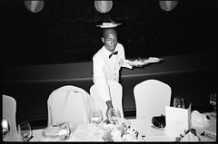 Jamaica, 2014 (Džesika Devic) Tags: wedding streetphotography blackandwhite contax snapandshoot flash jamaica weddingphotography street waiter grain kodak snapshot