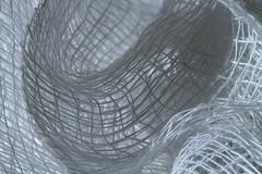 Space-Time Continuum (arbyreed) Tags: arbyreed macromondays cloth woven wovengauze cotton cottongauze fabric gauzefabric looseweave openweave close closeup