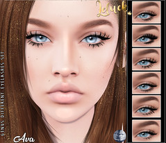 [LeLuck]Genus Different Lashes Set (Sunkora) Tags: secondlife anybody event genus leluck lashes lash applier set different new flairforevent