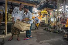 preparing (kuuan) Tags: manualfocus mf voigtländer15mm cvf4515mm 15mm bali indonesia sonynex5n festival temple preparations offerings ladies kebaya laugh fun friends
