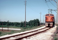 South Shore 803 East Chicago Sep80 (jsmatlak) Tags: chicago south shore line bend indiana train little joe 800 electric interurban railway freight