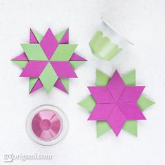 Rafael Star (Maria Sinayskaya) Tags: 2dorigamistar folded kamipaperduocolorcolor mariasinayskaya modularorigami origami origamistar square мариясинайская