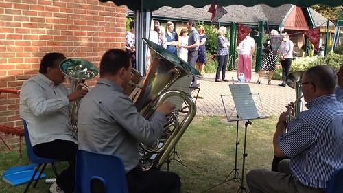 Retirement of Headteacher - 5 piece in action