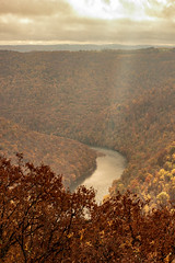 MCZ_2182 (markczerner) Tags: landscape outdoors fall colors fallcolors autumn orange red trees nature river coopers rock coopersrock statepark park west virginia wv wva countryroads country roads cheatriver valley mountains forest