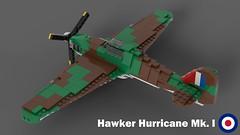 Lego Hawker Hurricane Mk I - 02 (Lt. SPAZ) Tags: lego hawker hurrican mki fighter allies battle britain raf moc