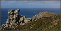 Cape Cornwall from Carn Gloose (J-o-h-n---E) Tags: cornwall capecornwall cape cliffs rocks headland chimney seascape carngloose stjust