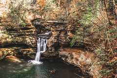 Cedar Falls (Mandy Lou Who) Tags: hocking hills ohio old mans cave cedar falls waterfall orange green autumn fall color landscape hiking family excursion