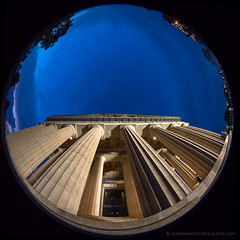 The Parthenon, Nashville [6763] (josefrancisco.salgado) Tags: centennialpark d5 fisheye8mmf28ais nashville nikkor nikon partenón tennessee theparthenonnashville usa unitedstatesofamerica architecture arquitectura bluehour circularfisheye crepúsculo evening twilight us