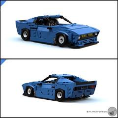 80's Supercar quarter angles - Miniland scale - Lego (Sir.Manperson) Tags: lego moc 80s retro ldd render miniland