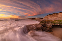 Sky Lines (rootswalker) Tags: sunset pacificocean northerncalifornia seascape clouds distagont2815