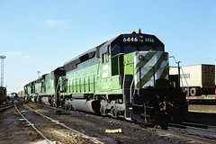 BN SD45 6446 (chuckzeiler50) Tags: n sd45 6446 railroad emd locomotive clyde train chuckzeiler chz