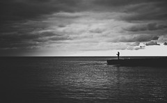 Fisherman (armandocapochiani) Tags: beauty beautiful bn bianconero blackwhite bw litoranea lidobruno taranto salento armandocapochiani apulia italy italian italia sea seascapes