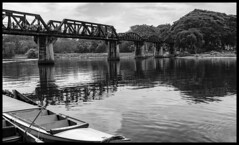 The Bridge on the River Kwai / Мост через реку Квай (dmilokt) Tags: природа nature пейзаж landscape вода река water river dmilokt чб bw черный белый black white