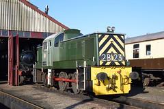D9516, Didcot Railway Centre 03 (JH Stokes) Tags: d9516 class14 dieselhydraulics dieselshunters shunters teddybear brgreen ferroequinology preservation preservedlocomotives locomotives heritage