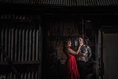The Lady in Red (sengsta) Tags: torture prisoner portrait shed strobe jinbei hd400