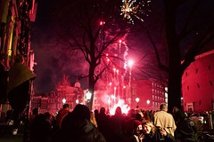 Wish you all a Happy New Year <3 (claudia 222) Tags: amsterdam jordaan bloemgracht prinsengracht nye people fireworks night gracht red city 35mm f14 g