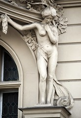 Prager Fassadendetails - 15 (fotomänni) Tags: prag prague praha jugendstil fassadenfiguren skulptur skulpturen sculpture kunst art manfredweis