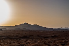 Sunset at the Wadi Rum desert ~ Jordan (-SaschaBakker-) Tags: summer landscape light outside jordan sunset nature desert camels caravan mountains extraterrestrial sand sun silhouette national