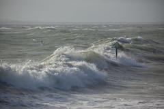Rough seas at Hayling Island