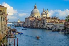 Grand Canal (otterdrivernw) Tags: explore europe travel cropsensor mirrorless xf1655 xt2 xseries fuji fujifilm gondola basilica saintmarymajor rialtobridge grandcanal italy venice