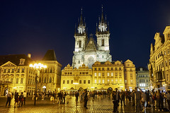 Spires that Inspire (abhishek.verma55) Tags: spire church tynchurch ©abhishekverma tyn thechurchofourladybeforetyn oldchurch medieval flickr prague czechrepublic czech czechia praha beautiful colourful exploration travelphotography oldtownsquare oldtown square evening tower night nightphotography nightscape cityscape city urban lights people crowd travel traveller history old outdoors outdoor urbanlandscape eurotrip europe vacation dreamvacation building architecturelover architecture architectural landmark unesco worldheritage unescoworldheritage heritage colour colorful colors